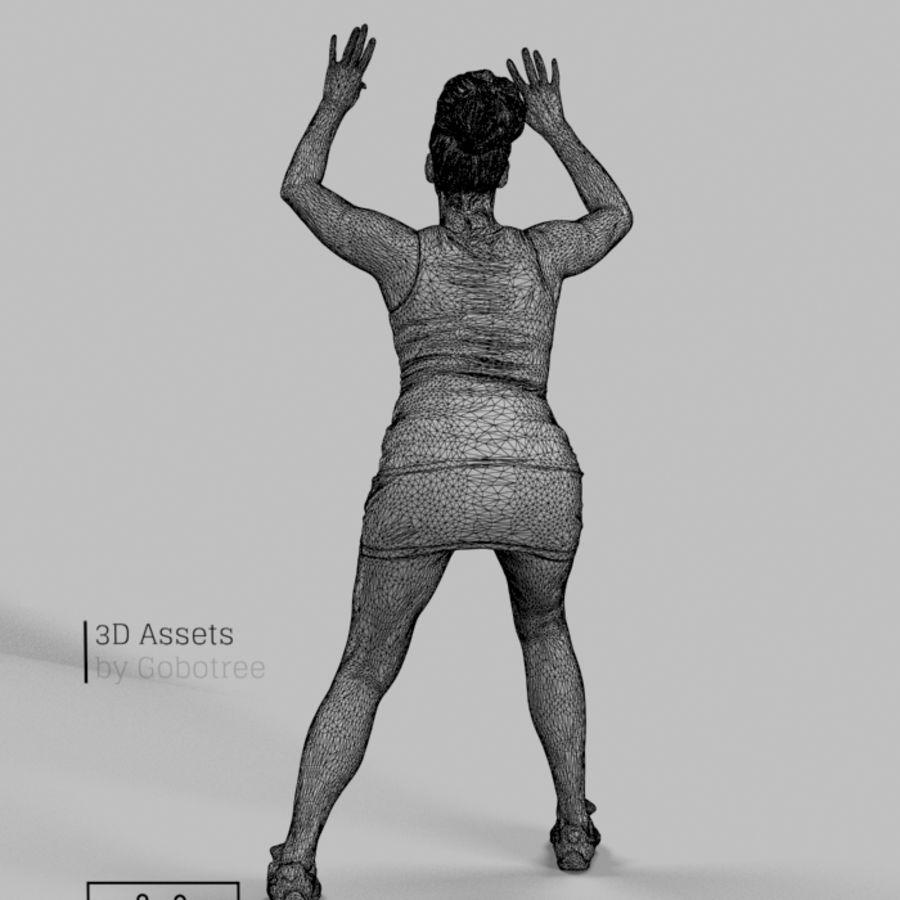 Sports Woman Yvette giocando a pallavolo royalty-free 3d model - Preview no. 7