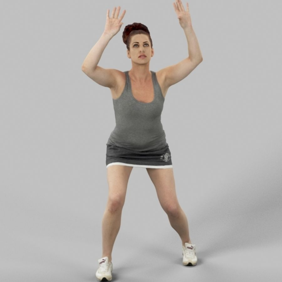 Sports Woman Yvette giocando a pallavolo royalty-free 3d model - Preview no. 1