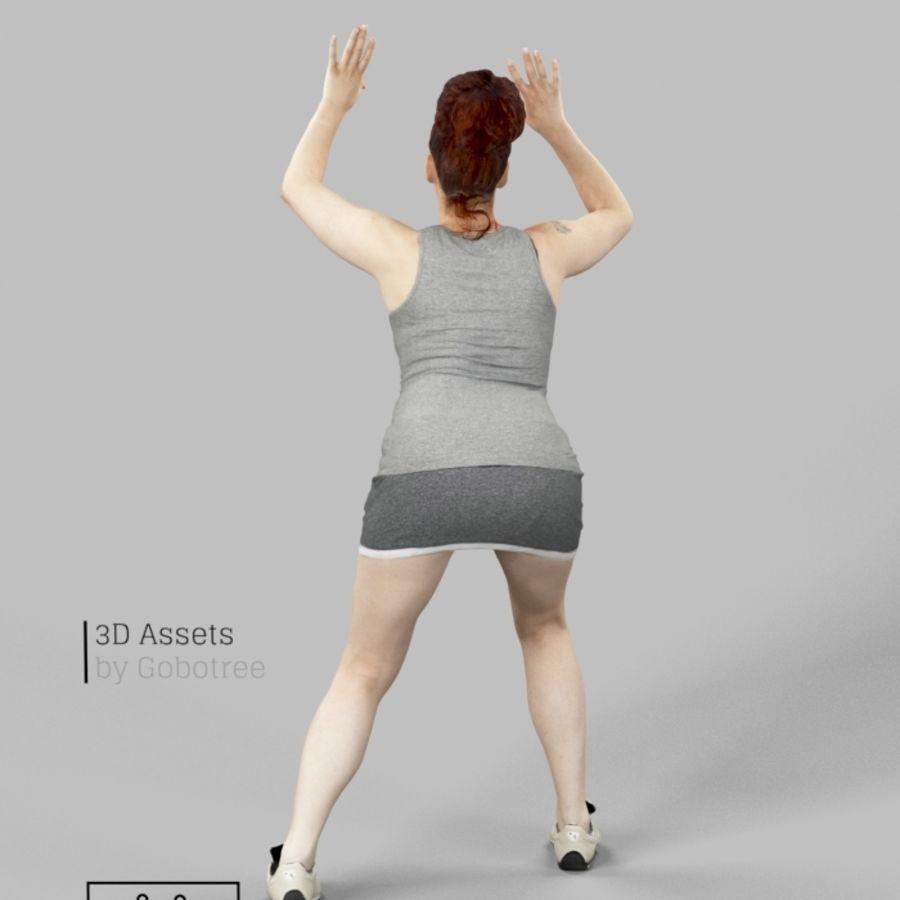 Sports Woman Yvette giocando a pallavolo royalty-free 3d model - Preview no. 4
