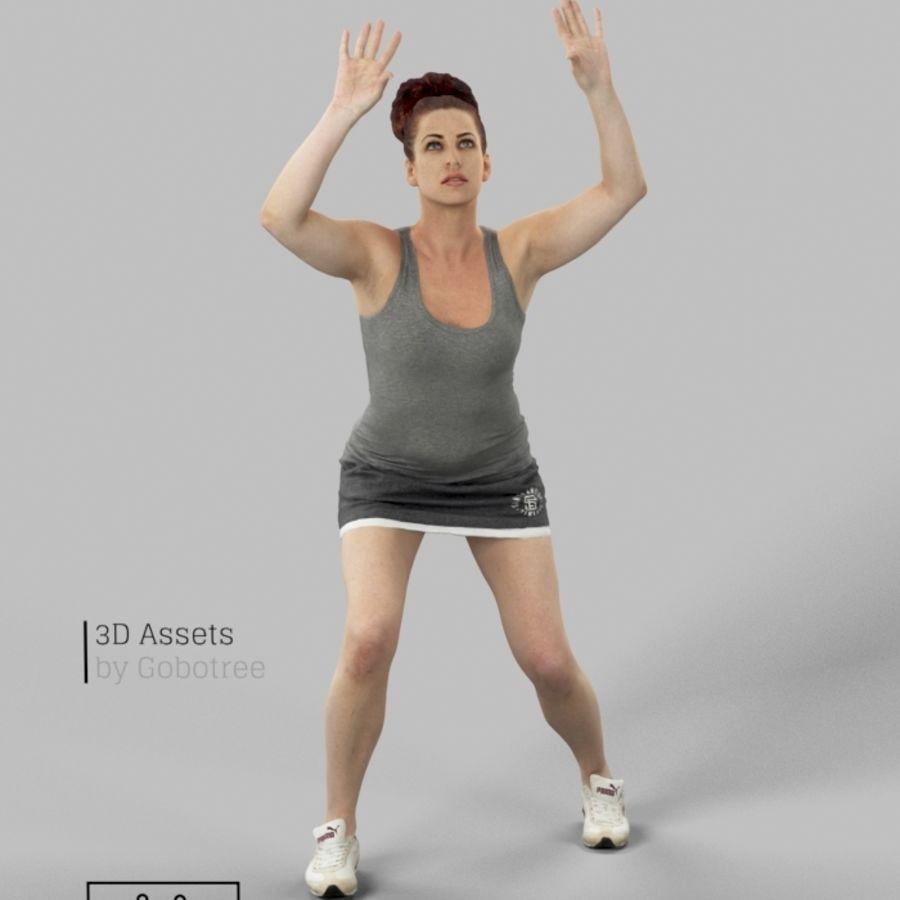 Sports Woman Yvette giocando a pallavolo royalty-free 3d model - Preview no. 2