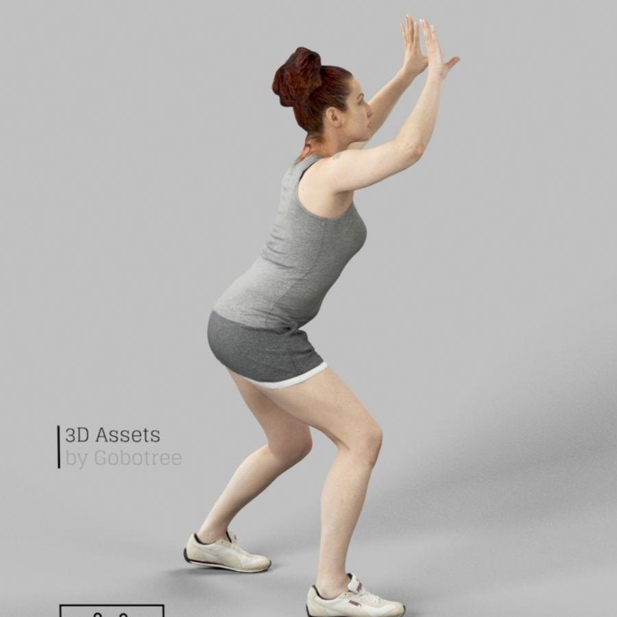 Sports Woman Yvette giocando a pallavolo royalty-free 3d model - Preview no. 3