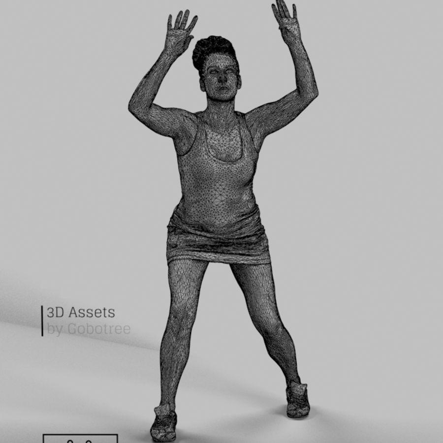 Sports Woman Yvette giocando a pallavolo royalty-free 3d model - Preview no. 6