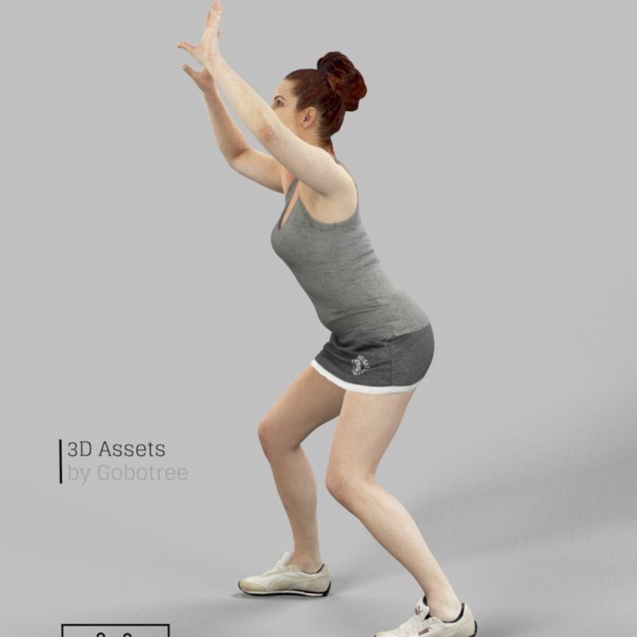Sports Woman Yvette giocando a pallavolo royalty-free 3d model - Preview no. 5