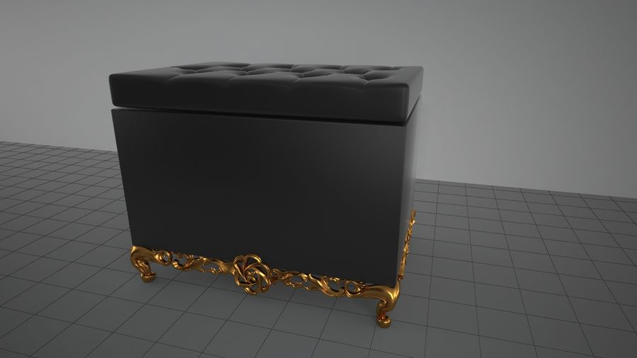 sofa - furniture royalty-free 3d model - Preview no. 5