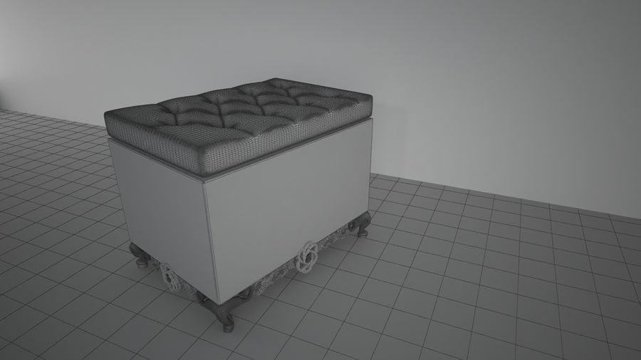 sofa - furniture royalty-free 3d model - Preview no. 2