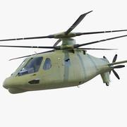 攻击复合直升机 3d model
