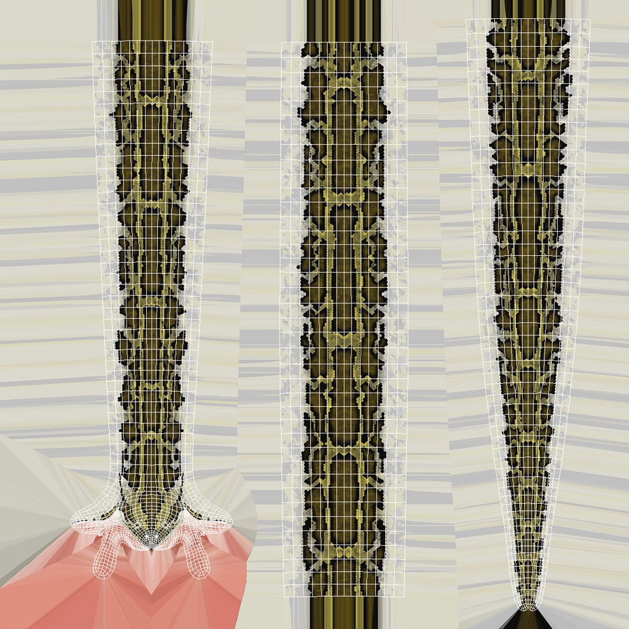 Pose enroulée de serpent vert python royalty-free 3d model - Preview no. 16