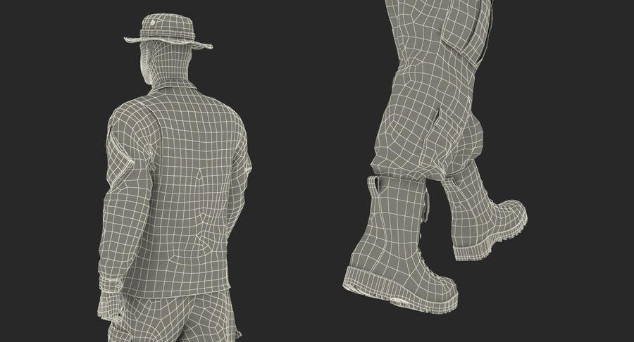 US Soldier ACU Walking Pose Fur 3D Model royalty-free 3d model - Preview no. 52