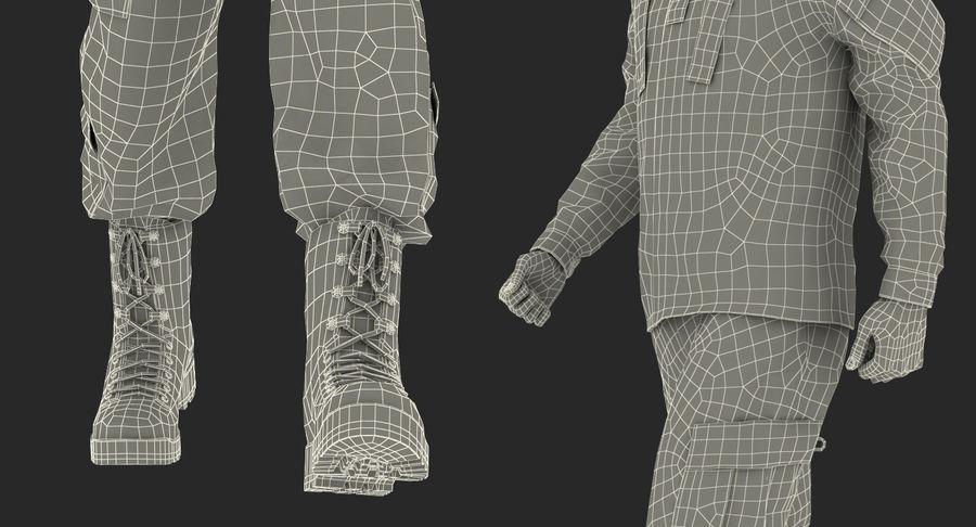 US Soldier ACU Walking Pose Fur 3D Model royalty-free 3d model - Preview no. 53