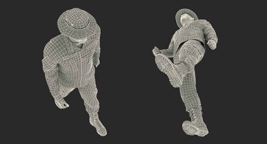US Soldier ACU Walking Pose Fur 3D Model royalty-free 3d model - Preview no. 57