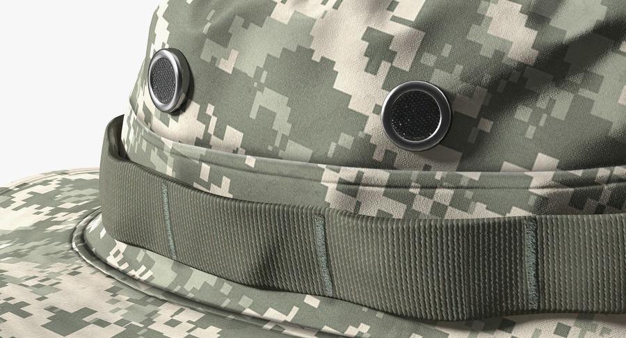 US Soldier ACU Walking Pose Fur 3D Model royalty-free 3d model - Preview no. 11