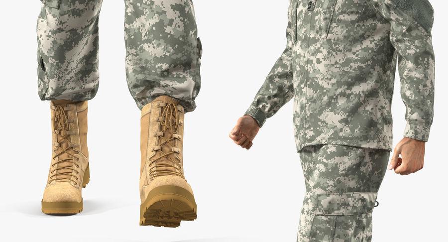 US Soldier ACU Walking Pose Fur 3D Model royalty-free 3d model - Preview no. 25