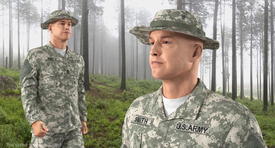 US Soldier ACU Walking Pose Fur 3D Model royalty-free 3d model - Preview no. 7