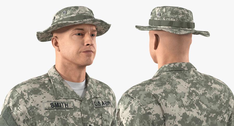 US Soldier ACU Walking Pose Fur 3D Model royalty-free 3d model - Preview no. 30