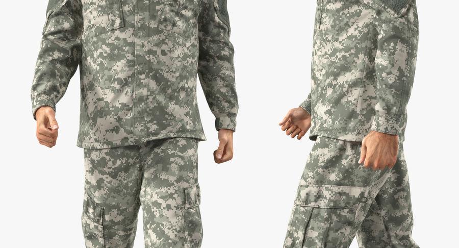 US Soldier ACU Walking Pose Fur 3D Model royalty-free 3d model - Preview no. 34
