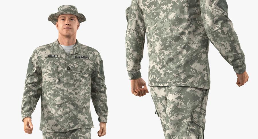 US Soldier ACU Walking Pose Fur 3D Model royalty-free 3d model - Preview no. 31