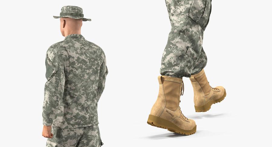 US Soldier ACU Walking Pose Fur 3D Model royalty-free 3d model - Preview no. 21