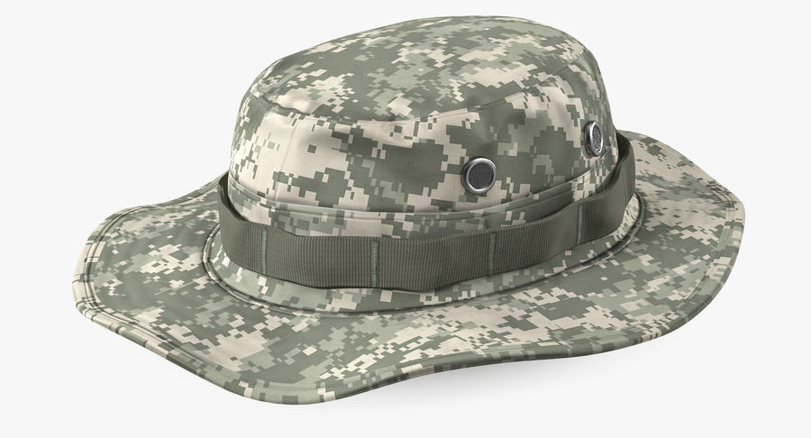 US Soldier ACU Walking Pose Fur 3D Model royalty-free 3d model - Preview no. 14