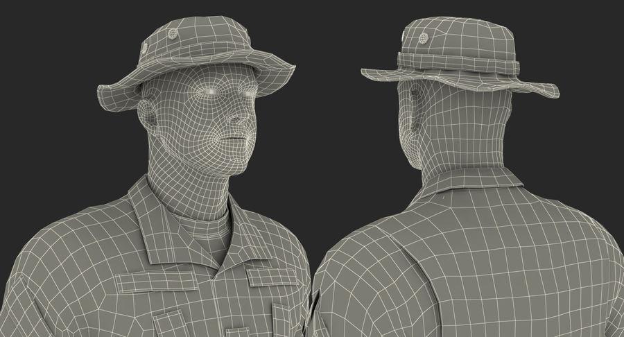 US Soldier ACU Walking Pose Fur 3D Model royalty-free 3d model - Preview no. 46