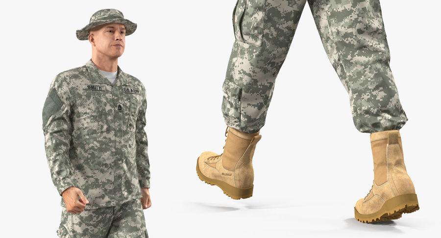 US Soldier ACU Walking Pose Fur 3D Model royalty-free 3d model - Preview no. 19