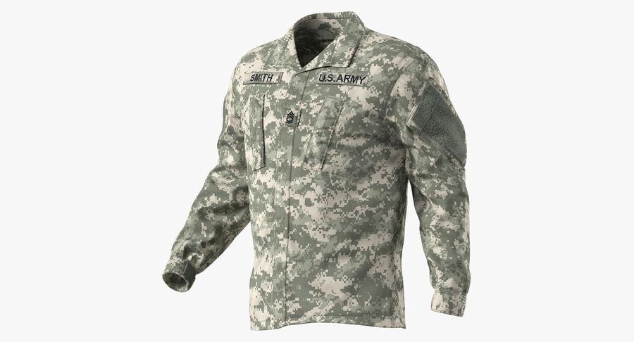 US Soldier ACU Walking Pose Fur 3D Model royalty-free 3d model - Preview no. 28
