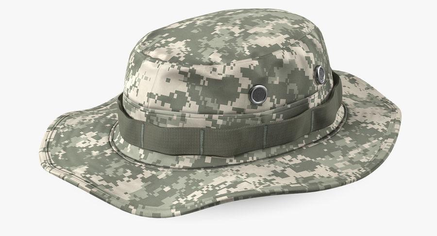 US Soldier ACU Walking Pose Fur 3D Model royalty-free 3d model - Preview no. 13