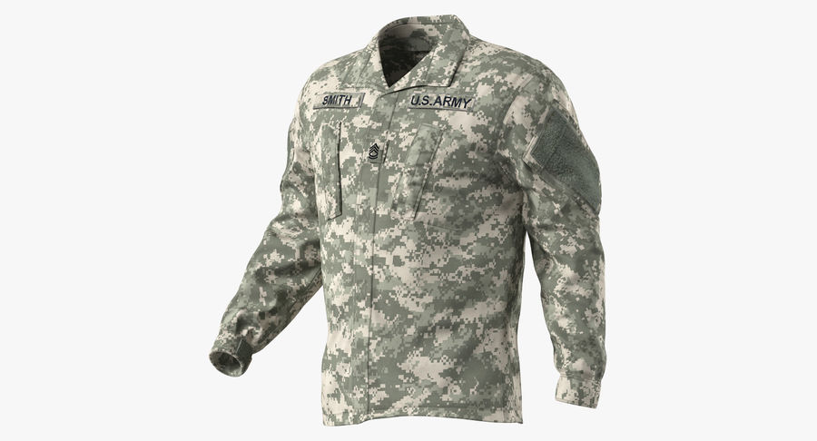 US Soldier ACU Walking Pose Fur 3D Model royalty-free 3d model - Preview no. 27