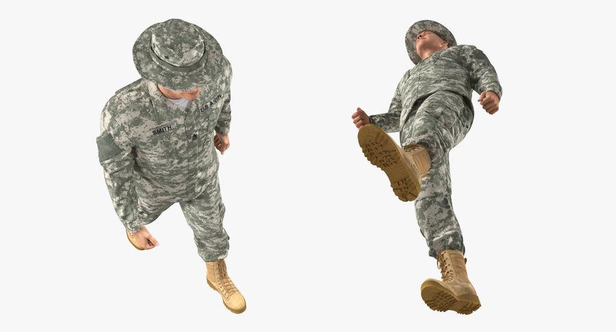 US Soldier ACU Walking Pose Fur 3D Model royalty-free 3d model - Preview no. 18