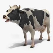 Animowany model 3D ryczącej krowy 3d model