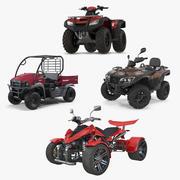Coleção de modelos 3D de ATV Four Wheelers 2 3d model