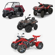 ATV Four Wheelers Rigged 3D Models Collection 2 3d model
