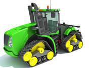 Puissance chenillée du tracteur 3d model