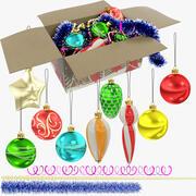 Collection de boules et décorations de Noël V1 3d model