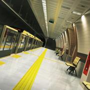 지하철 지하철 역 3d model