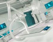 装備されたロボットアームを備えたSF実験室 3d model