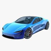 2020 Tesla Roadster blue 3d model