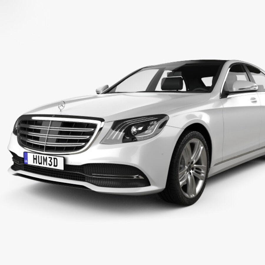 Mercedes-Benz S-class (V222) 2017 royalty-free 3d model - Preview no. 6