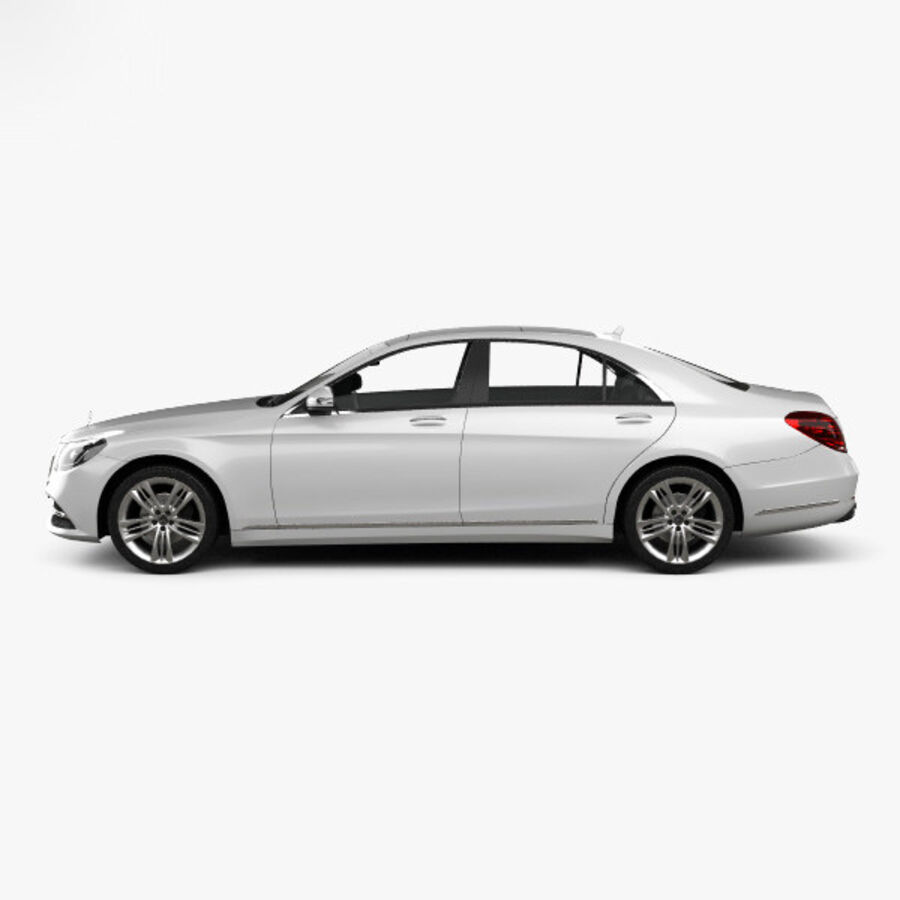 Mercedes-Benz S-class (V222) 2017 royalty-free 3d model - Preview no. 5
