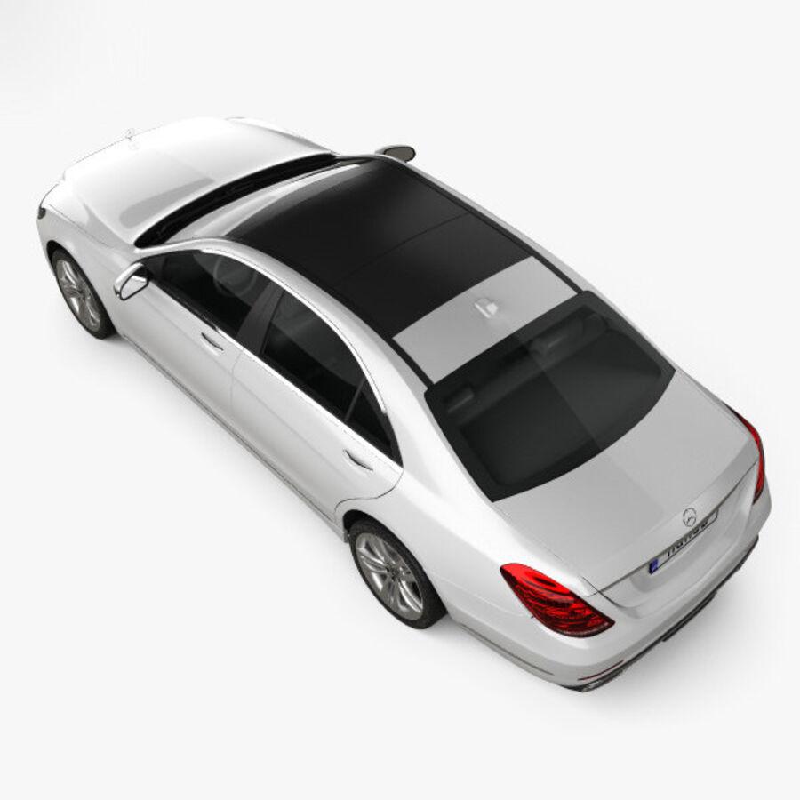 Mercedes-Benz S-class (V222) 2017 royalty-free 3d model - Preview no. 9