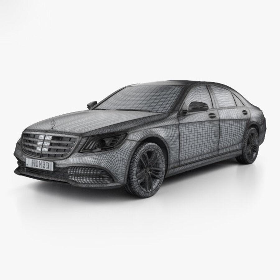 Mercedes-Benz S-class (V222) 2017 royalty-free 3d model - Preview no. 3