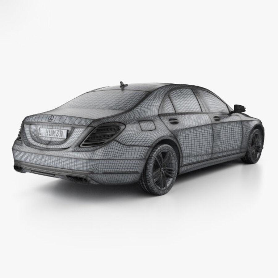 Mercedes-Benz S-class (V222) 2017 royalty-free 3d model - Preview no. 4