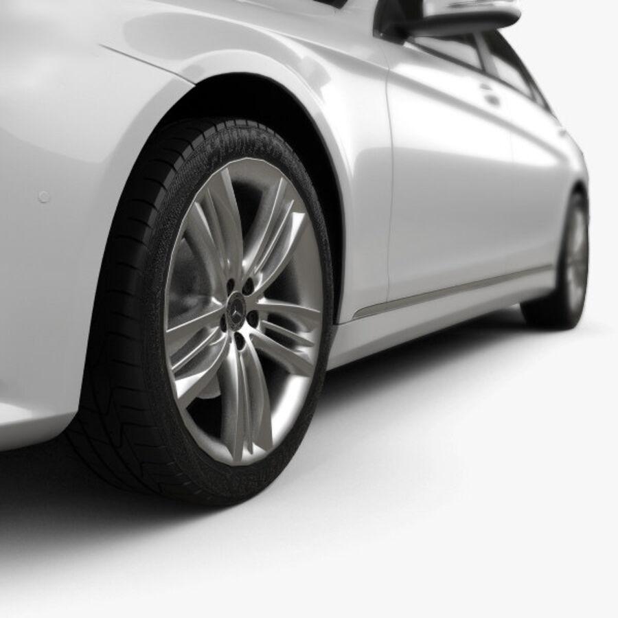 Mercedes-Benz S-class (V222) 2017 royalty-free 3d model - Preview no. 8