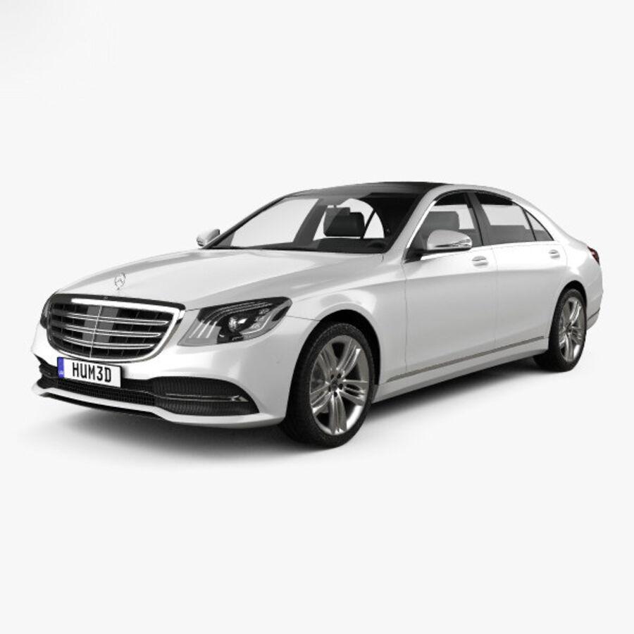 Mercedes-Benz S-class (V222) 2017 royalty-free 3d model - Preview no. 1