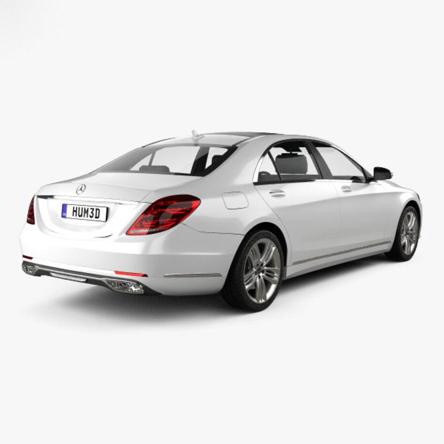 Mercedes-Benz S-class (V222) 2017 royalty-free 3d model - Preview no. 2