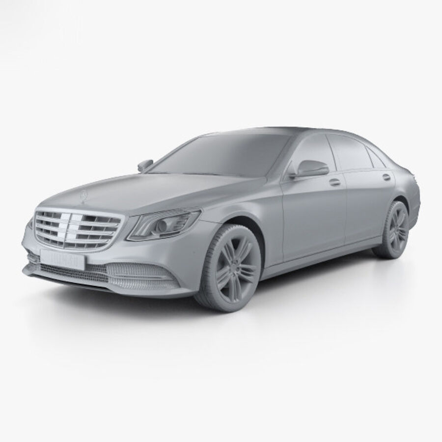 Mercedes-Benz S-class (V222) 2017 royalty-free 3d model - Preview no. 11