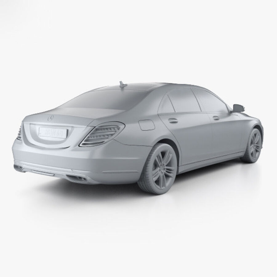 Mercedes-Benz S-class (V222) 2017 royalty-free 3d model - Preview no. 12