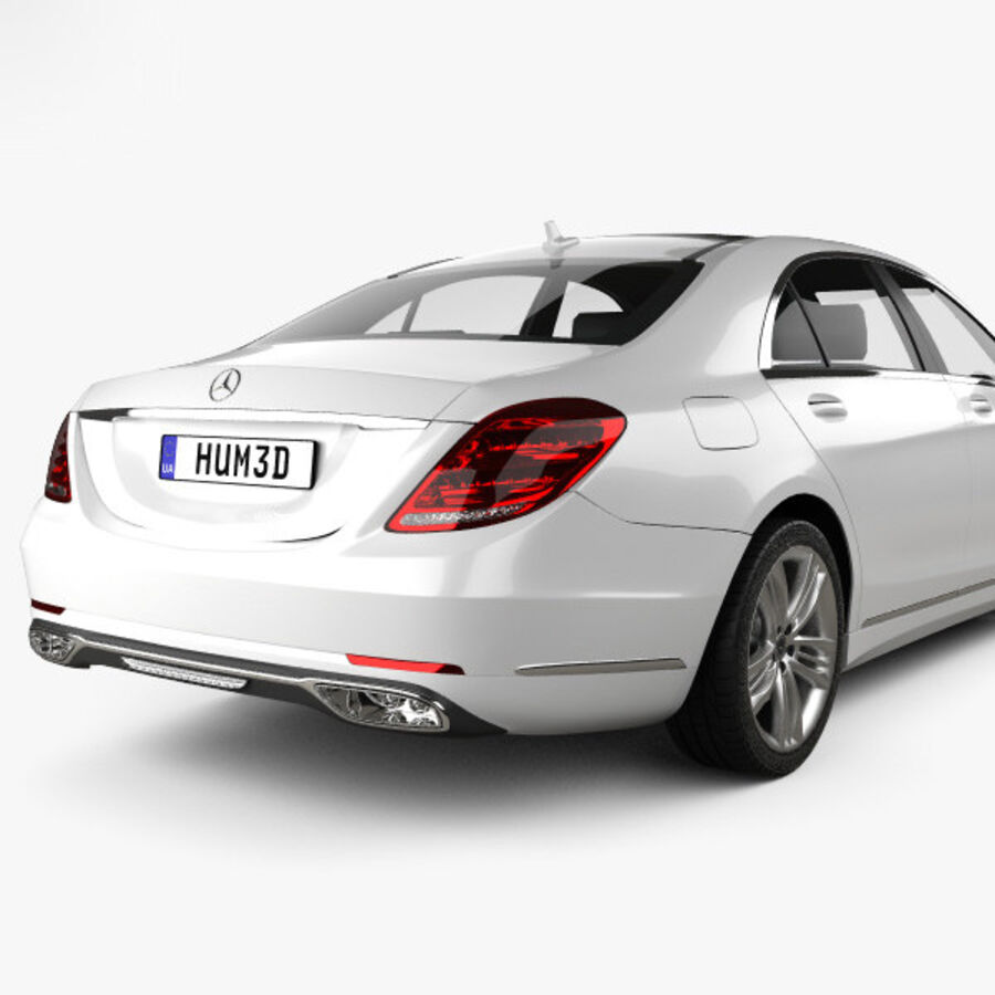 Mercedes-Benz S-class (V222) 2017 royalty-free 3d model - Preview no. 7