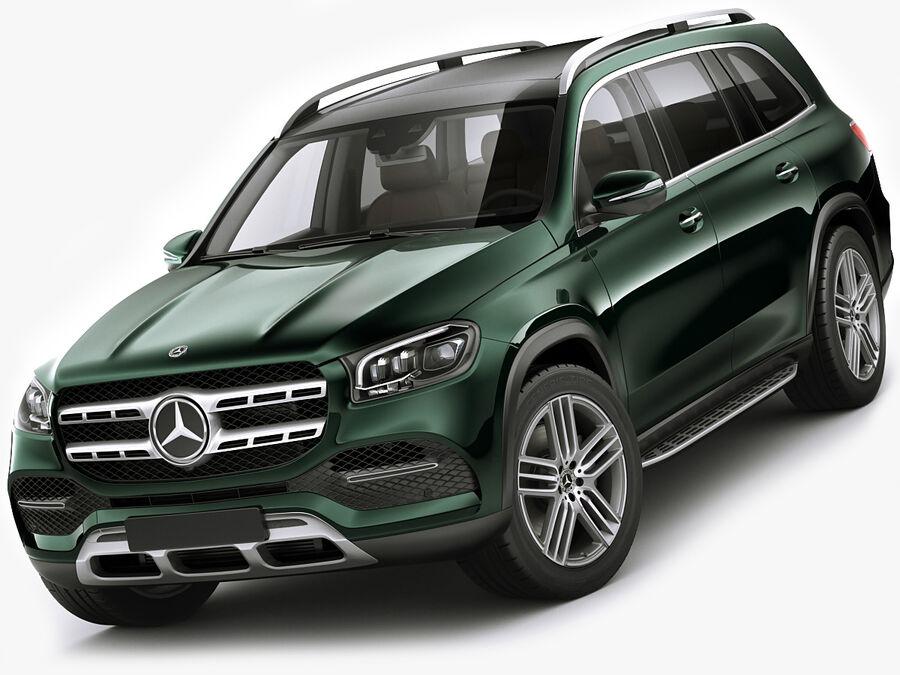 Mercedes GLS 2020 royalty-free 3d model - Preview no. 1