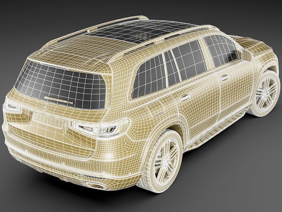 Mercedes GLS 2020 royalty-free 3d model - Preview no. 22
