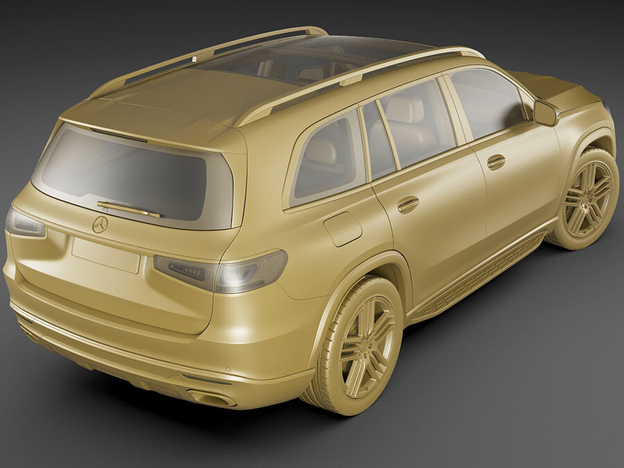 Mercedes GLS 2020 royalty-free 3d model - Preview no. 18